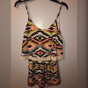 Very Cute Aztec Print Romper!!!! Great for Summer!